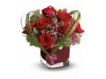 Piros rózsa szívvel